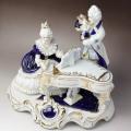 ピアノ フルート レースドール 陶器人形 音楽雑貨 音楽ギフト