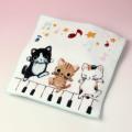 ハンドタオル Yamaneko ピアノ鍵盤 音楽雑貨 音楽グッズ