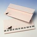 封筒 ピアノ鍵盤 音楽雑貨 音楽グッズ Bonjour Mie!