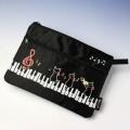 2段ポーチ ピアノ鍵盤 音楽雑貨 音楽グッズ Bonjour Mie!