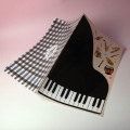 クリアファイル クリアフォルダ 音楽雑貨 見開き ピアノ