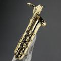 バリトンサックス Baritone Sax ブローチ 楽器グッズ 音楽雑貨