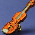 ワッペン 刺繍タイタックピン ヴァイオリン 音楽グッズ 音楽雑貨