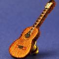 ワッペン 刺繍タイタックピン クラシックギター 音楽グッズ 音楽雑貨