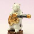 九谷焼 猫JAZZ エレキギター 音楽雑貨 音楽グッズ
