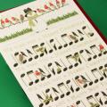 クリスマスカード,スノーマンと鳥と音符たち,音楽雑貨,音楽グッズ