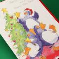 クリスマスカード,聖夜のペンギンたち,音楽雑貨,音楽グッズ