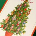 クリスマスカード,ツリーと胡桃割り人形っぽいオーナメント,音楽雑貨,音楽グッズ