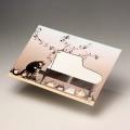 封筒 グランドピアノ ネコ 音楽雑貨
