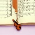 本革製 ブックマーク ヴァイオリン 音楽雑貨 音楽グッズ