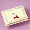 誕生カード Swarovski ハート楽譜 音楽雑貨