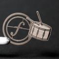 譜めくりマーカー 楽譜タブ 音楽雑貨 スネアドラム