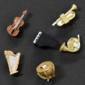 楽器マグネット ホルン トランペット ティンパニ 弦楽器 ピアノ ハープ 音楽雑貨