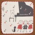 音楽雑貨 タオルハンカチ ShinziKatoh パイル ガーゼ 合唱 ピアノ