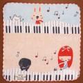 音楽雑貨 タオルハンカチ ShinziKatoh パイル ガーゼ 無撚糸 鍵盤 楽器 音符