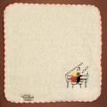 音楽雑貨 タオルハンカチ ShinziKatoh ピアノ 鍵盤 音符