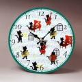 ガラス掛置時計 黒猫のソリストたち ピアノ チェロ ホルン トロンボーン 音楽雑貨 音楽グッズ