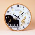 ガラス掛置時計 グランドピアノ ト音記号 音楽雑貨 音楽グッズ