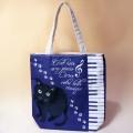 Maison de cats 黒猫と鍵盤 トートバッグ 音楽雑貨