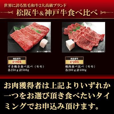松阪牛&神戸牛食べ比べギフト目録パネルセット
