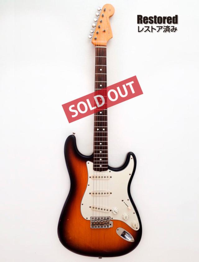 1991年 Fender Stratocaster 3tone Sunburst Vintage series【製後28歳】
