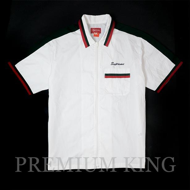 国内正規品 2018SS Supreme Zip Up Work Shirt White 新品未使用品 [ シュプリーム ジップ アップ ワーク シャツ ホワイト ]