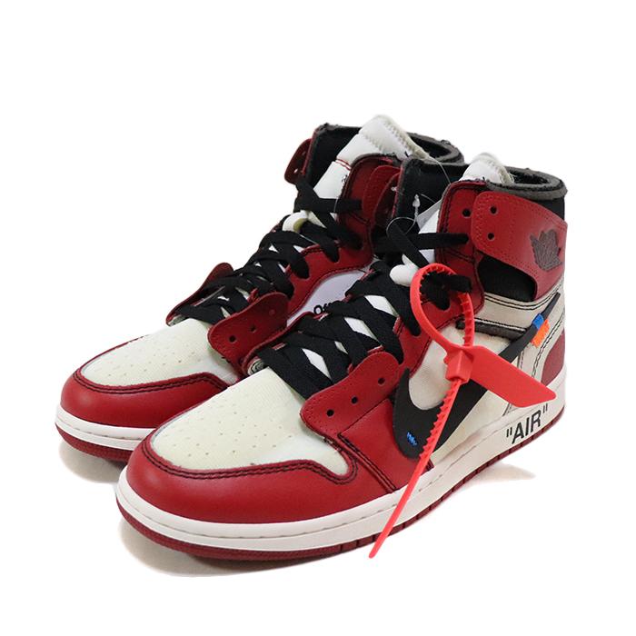 """国内正規品 OFF WHITE VIRGIL ABLOH x NIKE """" THE 10 """" Air Jordan 1 White/Black-Varsity Red 新品未使用品 [ オフホワイト ヴァージル アブロー ナイキ ザ テン エア ジョーダン 1 ホワイト ブラック バーシティ レッド Chicago シカゴ 白 黒 赤 AA3834-101 ]"""