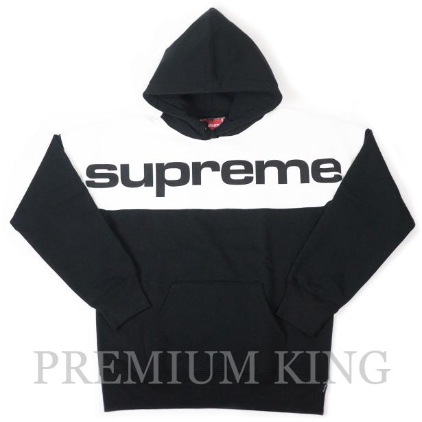 国内正規品 2017AW Supreme Blocked Hooded Sweatshirt Black 新品未使用品 [ シュプリーム ブロック フーディー パーカー ブラック 黒 ]