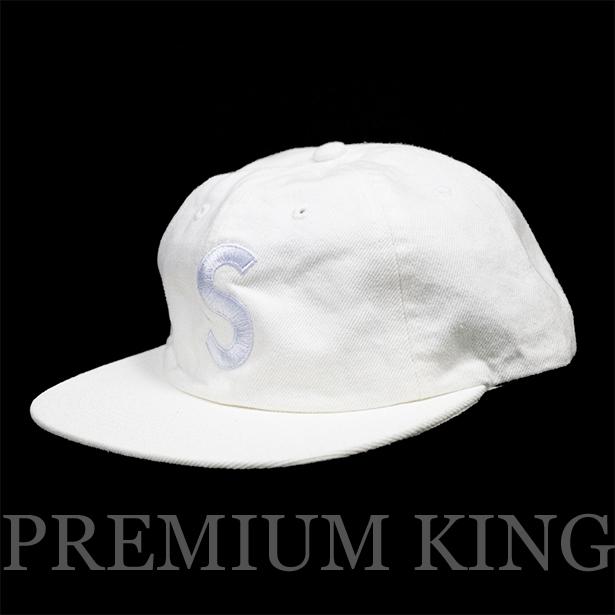 b5f55dae9a6 正規品 2017SS Supreme Washed Denim S Logo 6 Panel Cap White 新品未使用品.