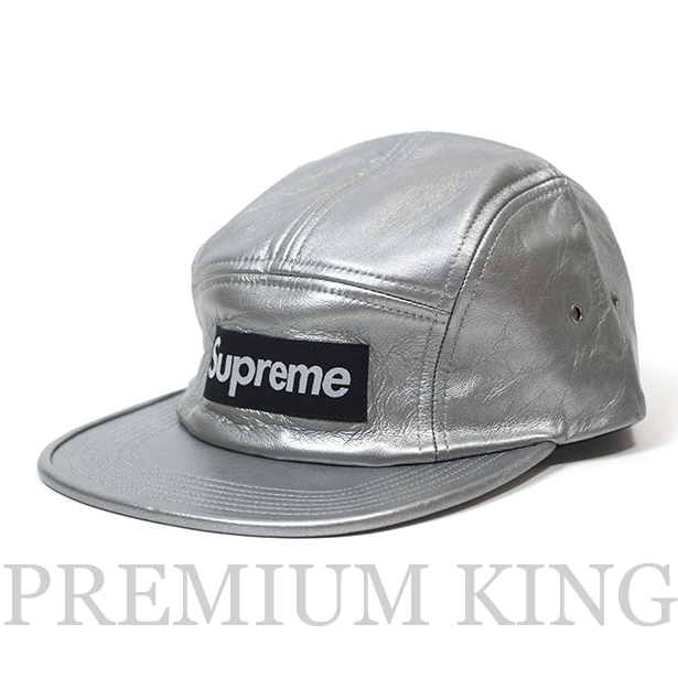 0abcebb8373 正規品 2016FW Supreme Leather camp cap Silver 新品未使用品   シュプリーム レザー キャンプ.
