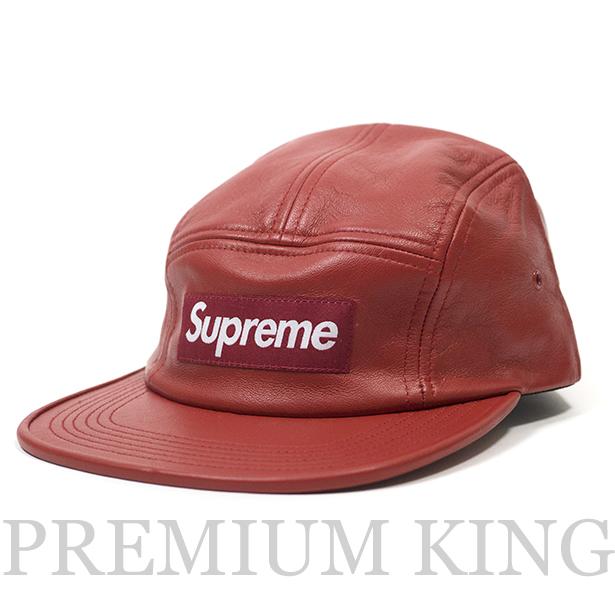 04db9485d6f 正規品 2016FW Supreme Leather camp cap Red 新品未使用品   シュプリーム レザー キャンプ.