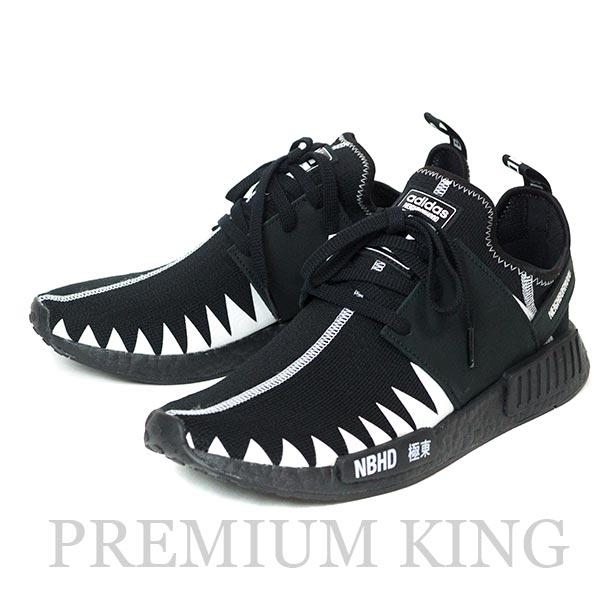 国内正規品 2018 NEIGHBORHOOD x adidas NMD R1 PK BLACK WHITE 新品未使用品 [ アディダス ネイバーフッド エヌエムディー プライムニット ブラック ホワイト 黒 白 NBHD DA8835 ]