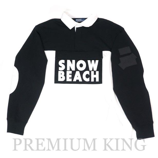 国内正規品 2018 POLO RALPH LAUREN The Snow Beach Collection The Snow Beach Double Knit Tech Rugby Black 新品未使用品 [ ポロ ラルフローレン ザ スノービーチ コレクション ダブル ニット テック ラグビー ブラック ]