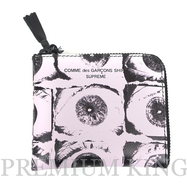 国内正規品 2017SS Supreme × COMME des GARCONS SHIRT Eyes Wallet Pink 新品未使用品  [ シュプリーム コムデギャルソン アイズ ウォレット ピンク ]