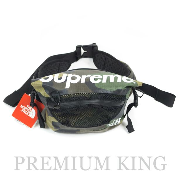 国内正規品 2017SS Supreme × The North Face Waterproof Waist Bag Woodland Camo  新品未.