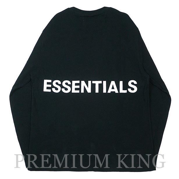 国内正規品 FOG Fear of god Essentials Boxy Graphic Long Sleeve T-Shirt BLACK 新品未使用品 [ フィアオブゴッド Tシャツ ブラック ]