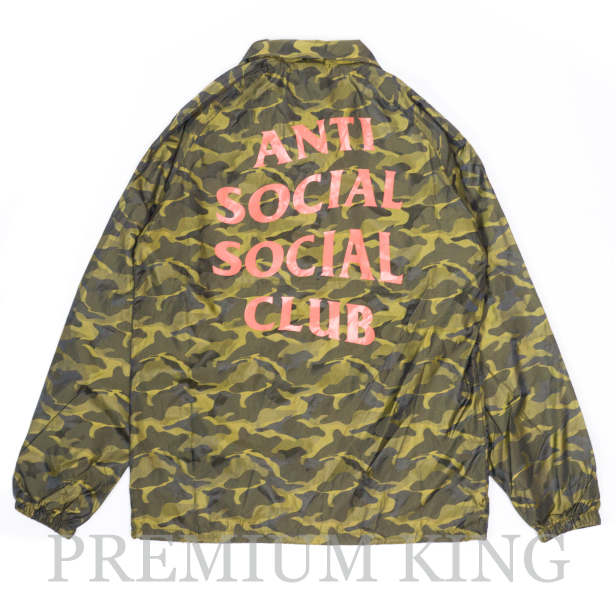 82dce1414395 即日発送 2017 Anti Social Social Club Take A Right 3D Coach Jacket Yellow Camo  新品.