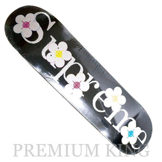 国内正規品 2017SS Supreme Flowers Skateboard Black 新品未使用品 [ シュプリーム フラワー Sk8 スケートボード デッキ ブラック 黒 ]