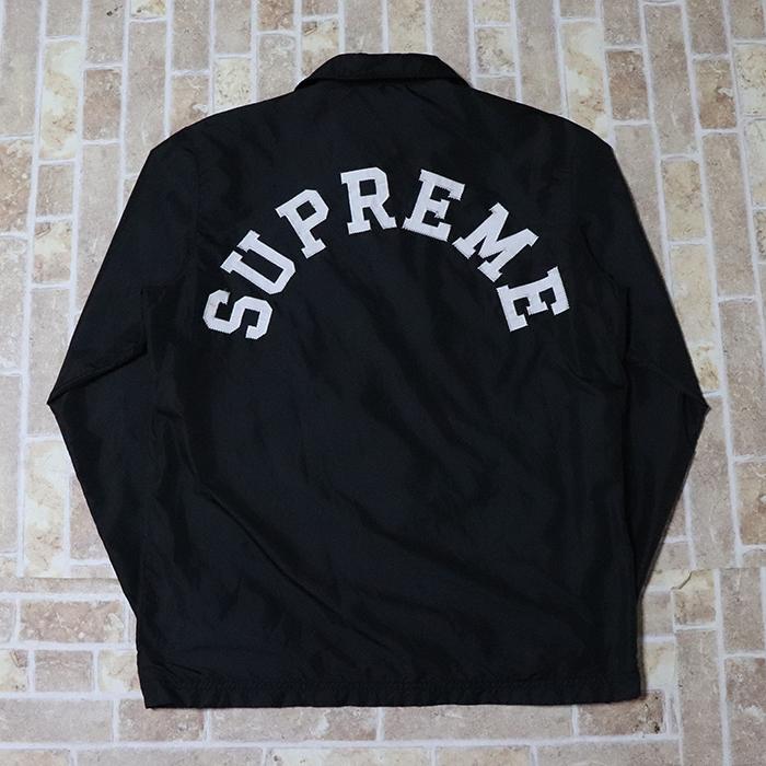 正規品 2010SS Supreme × Champion Custom Coaches Jacket Black 美中古品 [ シュプリーム チャンピオン カスタム コーチ ジャケット ブラック 黒 ]