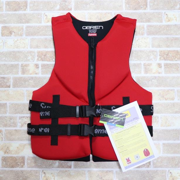 国内正規品 2018SS Supreme x O'Brien Life Vest Red 新品未使用品 [ シュプリーム オブライエン ライフ ベスト 赤 ]