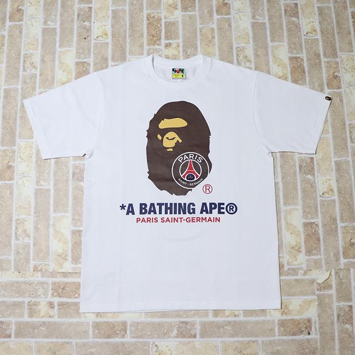 国内正規品 2018AW BAPE A BATHING APE × PSG Bape Tee White 新品未使用品 [ ベイプ ベイシング エイプ パリサンジェルマン ベイプ Tシャツ ホワイト 白 ]