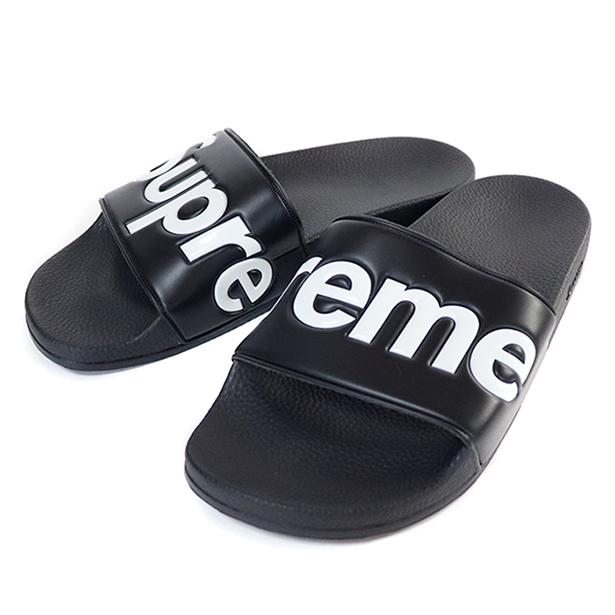 正規品 2014SS Supreme Slide Sandals Black 新品未使用品 [ シュプリーム スライド サンダル ブラック 黒 ]