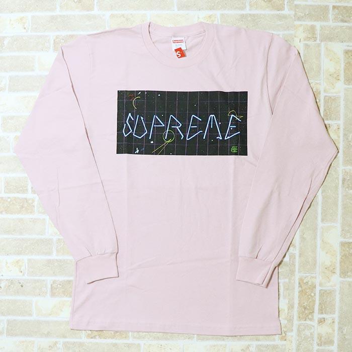 国内正規品 2016AW Supreme Blade Grid LS Tee Pink 新品未使用品 [ シュプリーム ブレイド グリッド ロングスリーブ Tシャツ ピンク ]