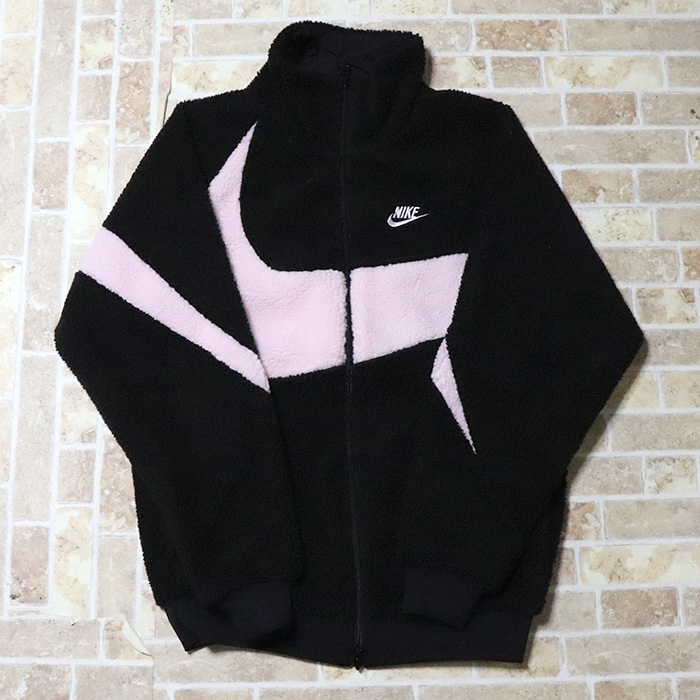 国内正規品 NIKE Big Swoosh Boa Jacket Black/Prism Pink BQ6546-016 新品未使用品 [ ナイキ ビッグ スウォッシュ ボア ジャケット ブラック プリズムピンク 黒 ]