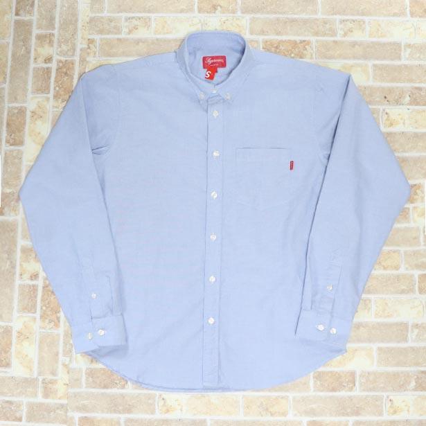 国内正規品 2018SS Supreme Oxford Shirt Light Blue 新品未使用品 [ シュプリーム オックスフォード シャツ ライトブルー 青 ]