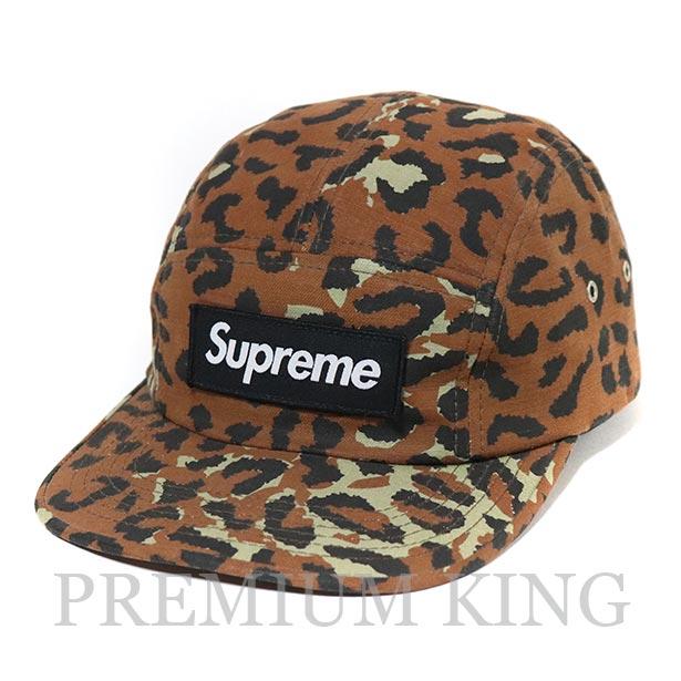 国内正規品 2010SS Supreme Leopard Camp Cap Brown 中古美品 [ シュプリーム レオパード キャンプ キャップ ブラウン 茶 ]