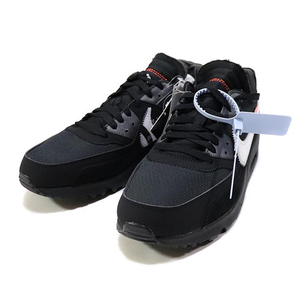 国内正規品 2019 OFF-WHITE VIRGIL ABLOH × NIKE AIR MAX 90 THE TEN BLACK BLACK / CONE-WHITE-BLACK AA7293-001 新品未使用品 [ オフホワイト ヴァージル アブロー ナイキ エア マックス ブラック 黒 ]