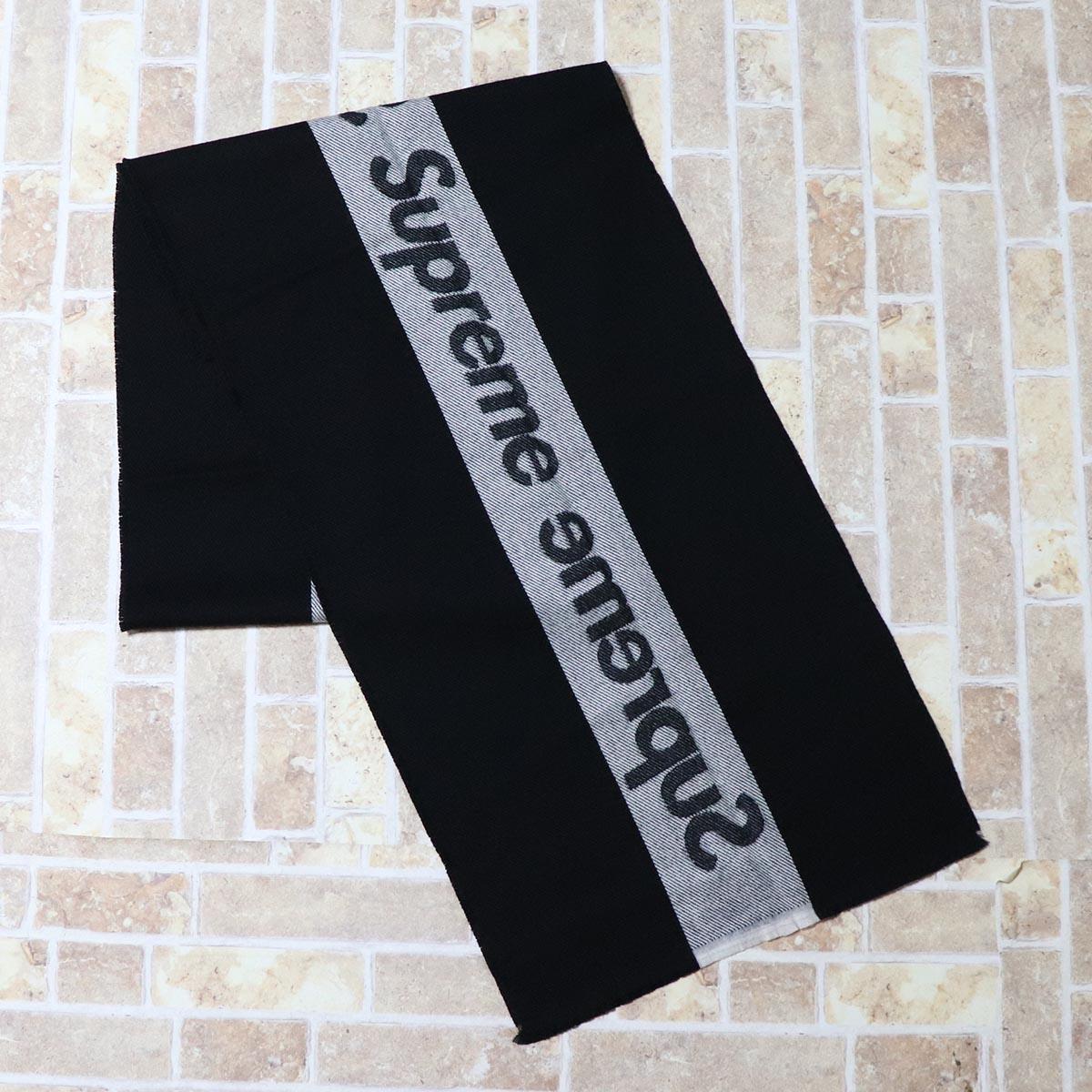 国内正規品 2013AW Supreme Woven Scarf Black 新品未使用品 [ シュプリーム ウーヴン スカーフ マフラー ブラック 黒 ]