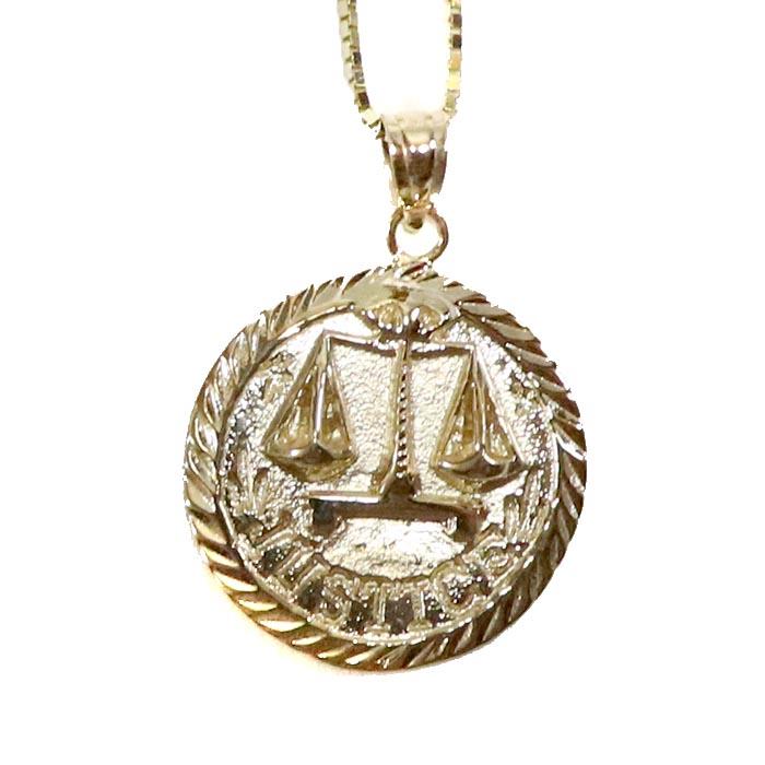 国内正規品 2018SS Supreme Justice Gold Pendant Gold 新品未使用品 [ シュプリーム ジャスティス ゴールド ペンダント ネックレス  ゴールド 金 ]