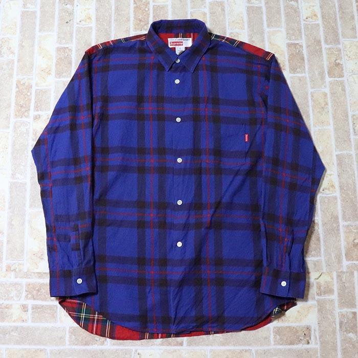 正規品 2014AW Supreme × COMME des GARCONS SHIRT Button-Down Shirt Multi Color 美中古品 [ シュプリーム コムデギャルソン ボタンダウンシャツ マルチカラー ]